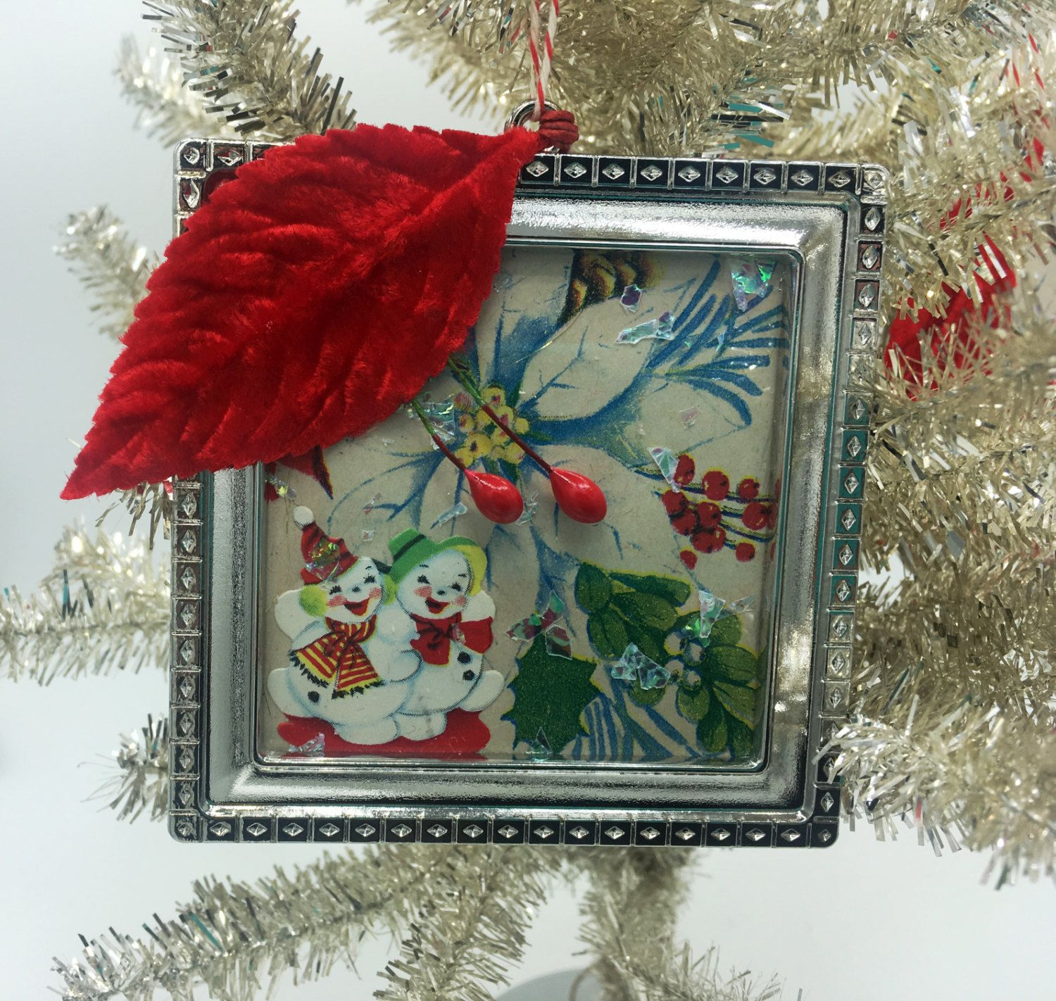 1950s vintage style christmas ornament by lapetitegrain on etsy
