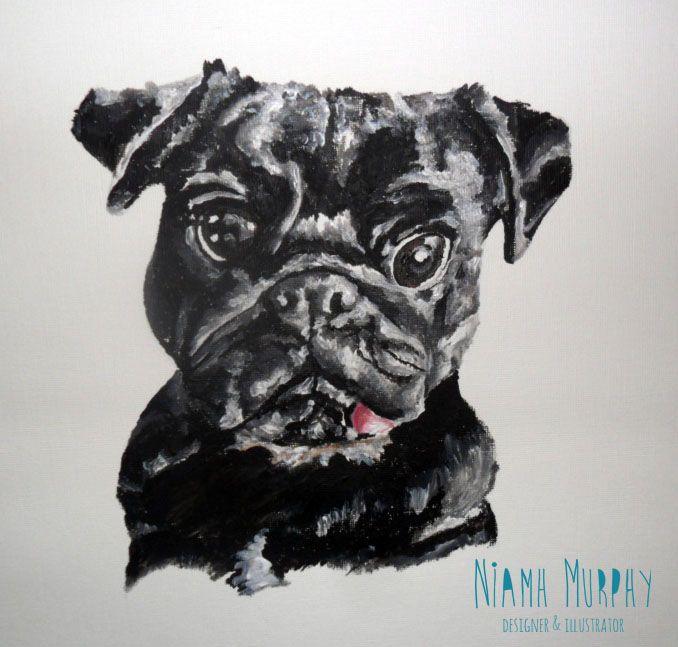 Little Pug 'Bentley' Acrylic
