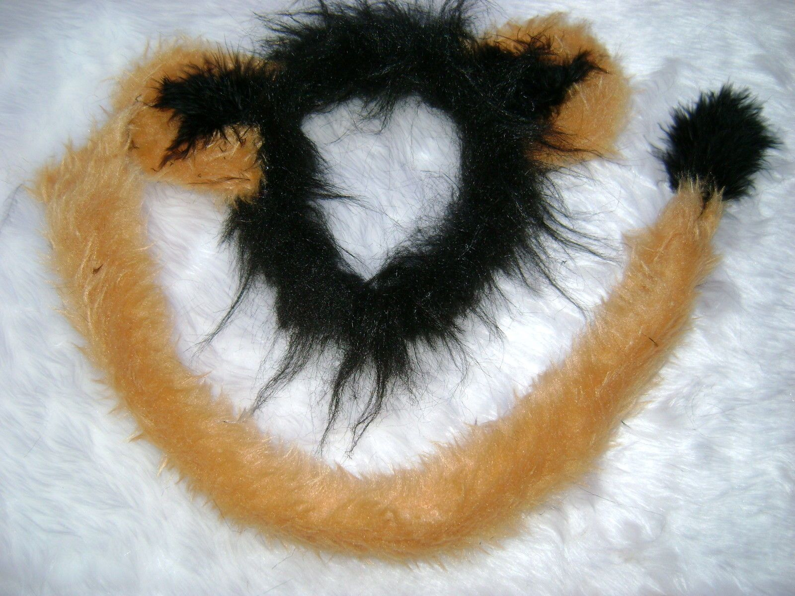 Nice Scar From Lion King Ears And Long Tail Set Luxury Faux Fur Fancy Dress One  Size