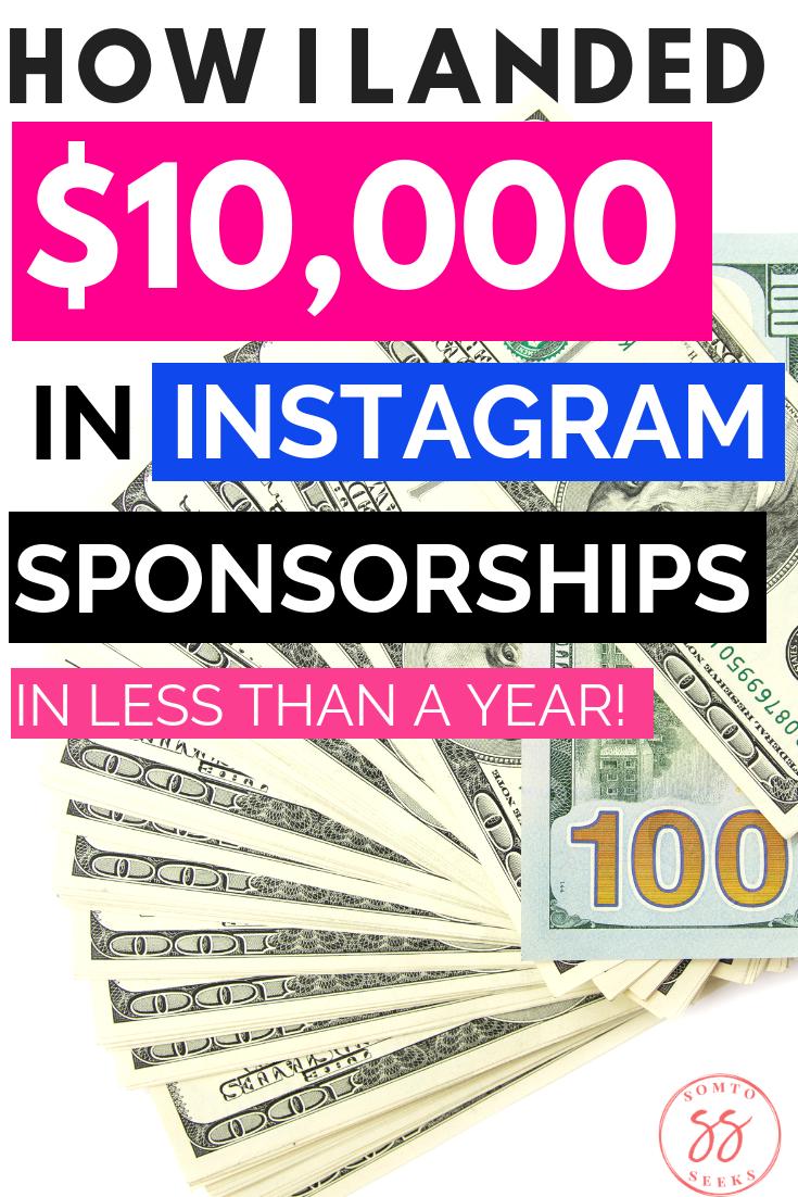 How I Landed 10k In Instagram Brand Deals In Just 10 Months Surveys For Money Making Money On Instagram Social Marketing Strategy
