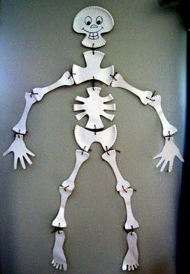 Image result for kids paper plate skeleton craft