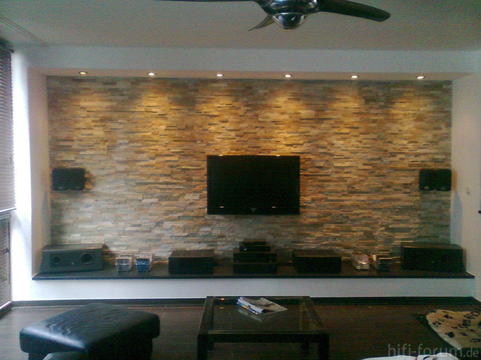 moderne steinwand fr ihr wohnzimmer schlafzimmer neu mit. Black Bedroom Furniture Sets. Home Design Ideas