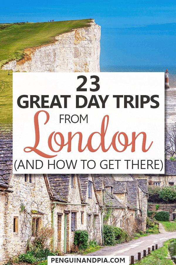 Looking for some great day trips from London, UK? In this guide we share some of the best London day trips and exactly how to get there! From old castles to beautiful towns and other attractions, there is something for everyone! #daytrips #europetravel #traveltips #ThingsToDoInLondonEngland