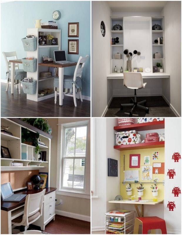 20 Diy Study Spaces Homes Com Diy Storage Shelves Small Spaces Small Bedroom Storage