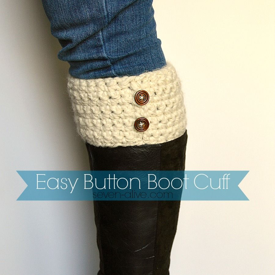Easy Crocheted Boot Cuff Pattern | Invierno, Patrones y Botas