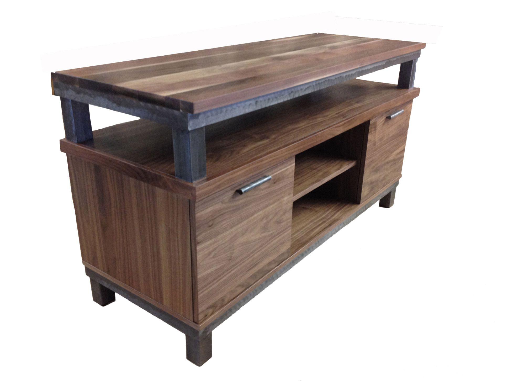 Meuble Tv En Noyer Table Living Room Acier Steel Meuble  # Meuble Tv En Noyer