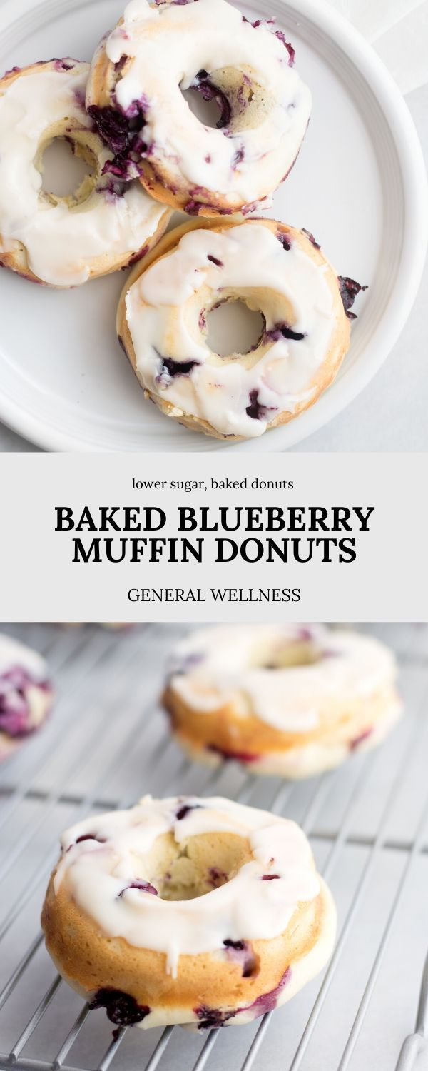 Baked Blueberry Muffin Donuts