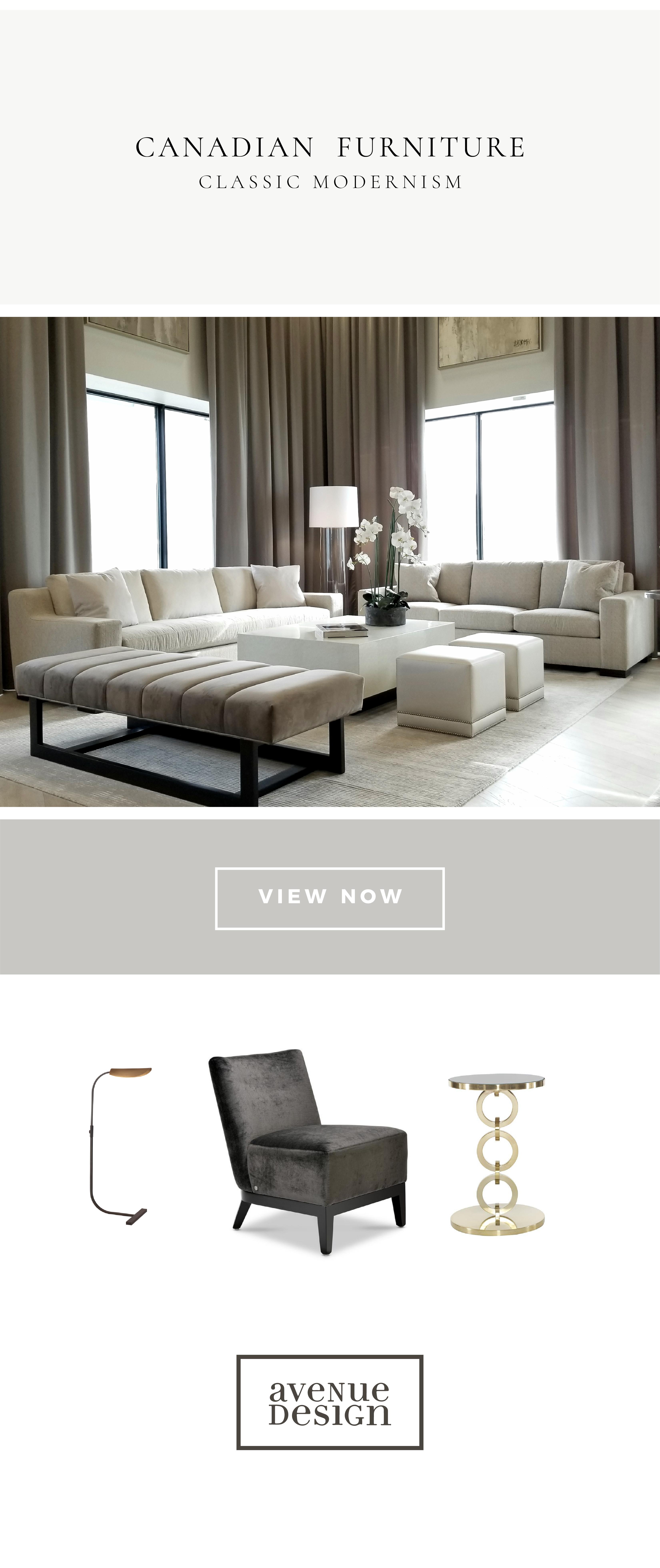 furniture and interior design at montreal based avenue design canada