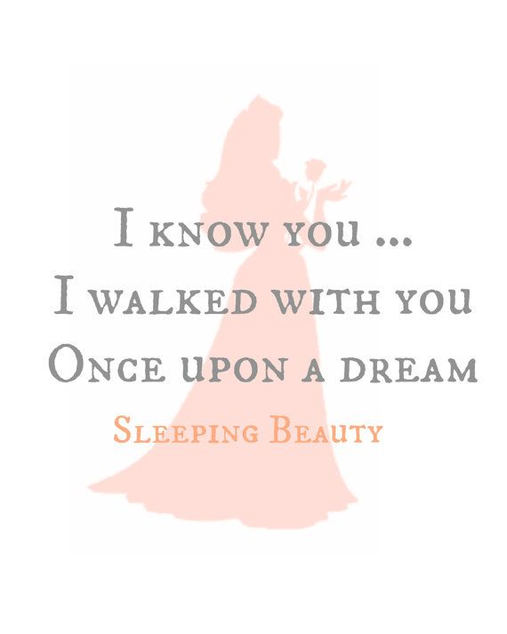 Princess AURORA /& PHILLIP Beauty /& the Beast Inpirational Quote Art Print DREAM