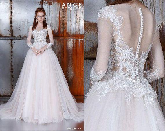 Hochzeitskleid MIRABELLE Hochzeit Kleid a-Linie Hochzeit