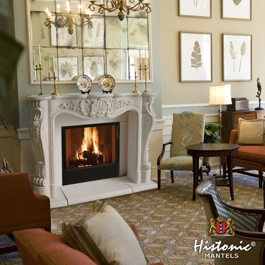 Shop Historic Mantels Limited Chateau 62 In W X 50 In H Distressed