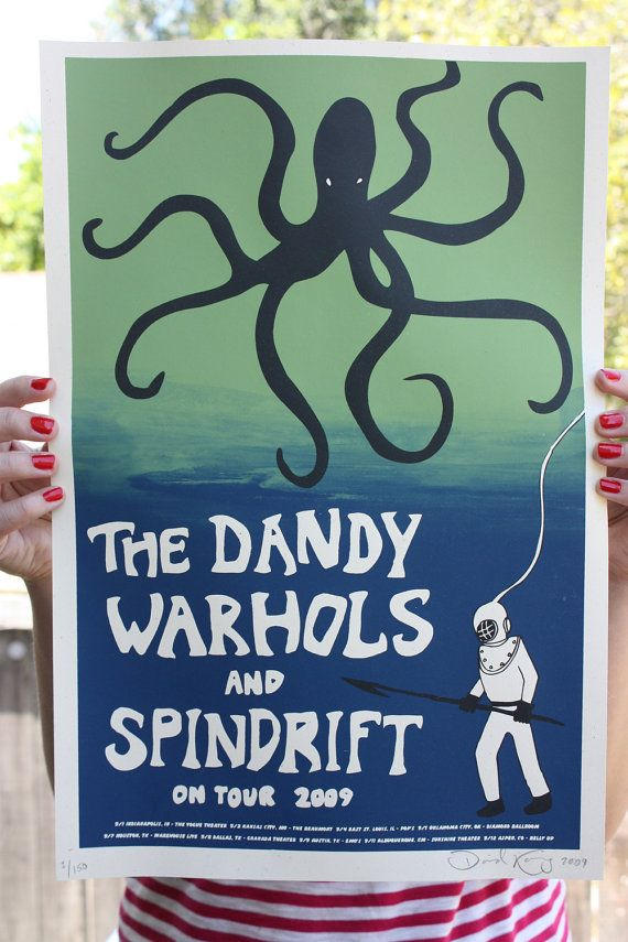 Hey, I found this really awesome Etsy listing at https://www.etsy.com/listing/73254508/poster-dandy-warhols-spindrift-tour-silk