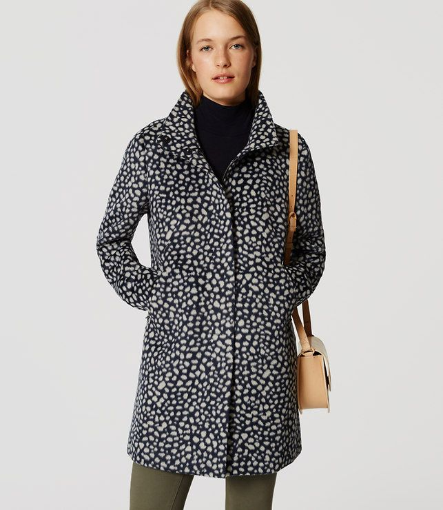 04035ba3bc69 Primary Image of Spotted Funnel Neck Coat | wishlist | Fashion ...