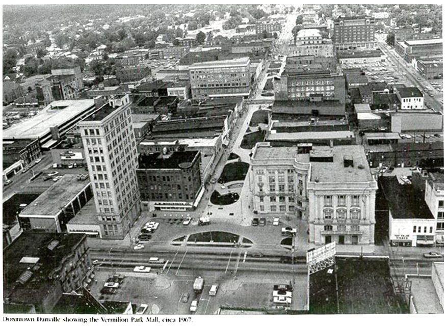 Downtown Danville Showing The Vermilion Park Mall Circa 1967