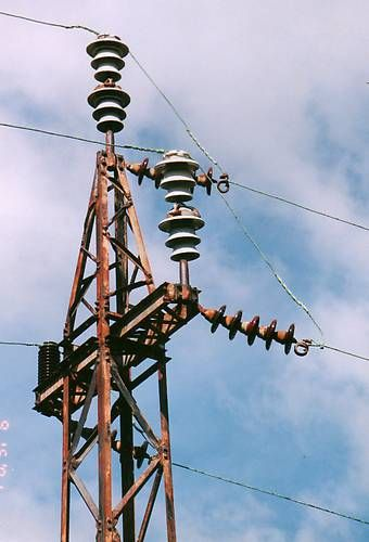 Insulators In Service Ohio Brass M 4395 S In Service Photo 3 Electrical Substation Electricity Ohio