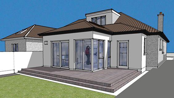 Semidetached dormer bungalow rear extension, Dublin 11