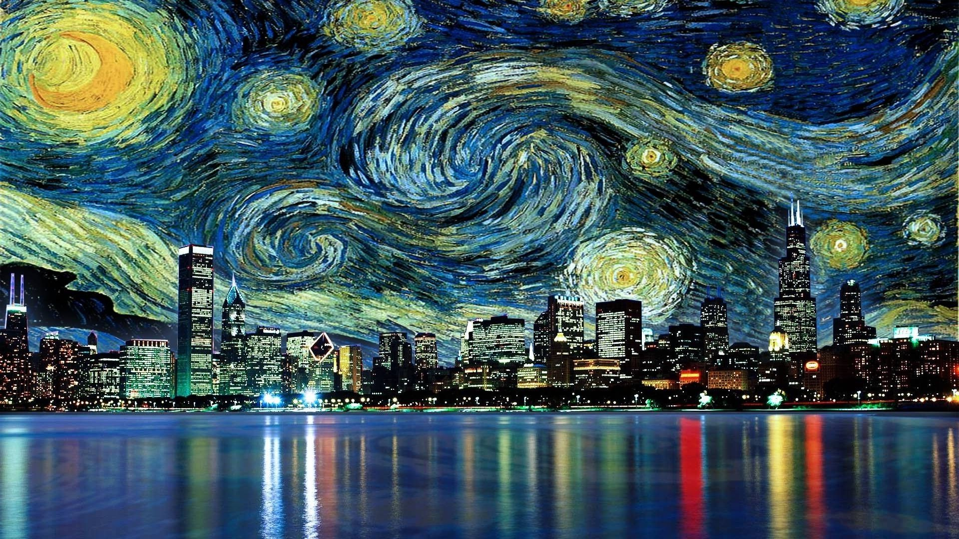 Vincent Van Gogh The Starry Night Free Wallpapers HD