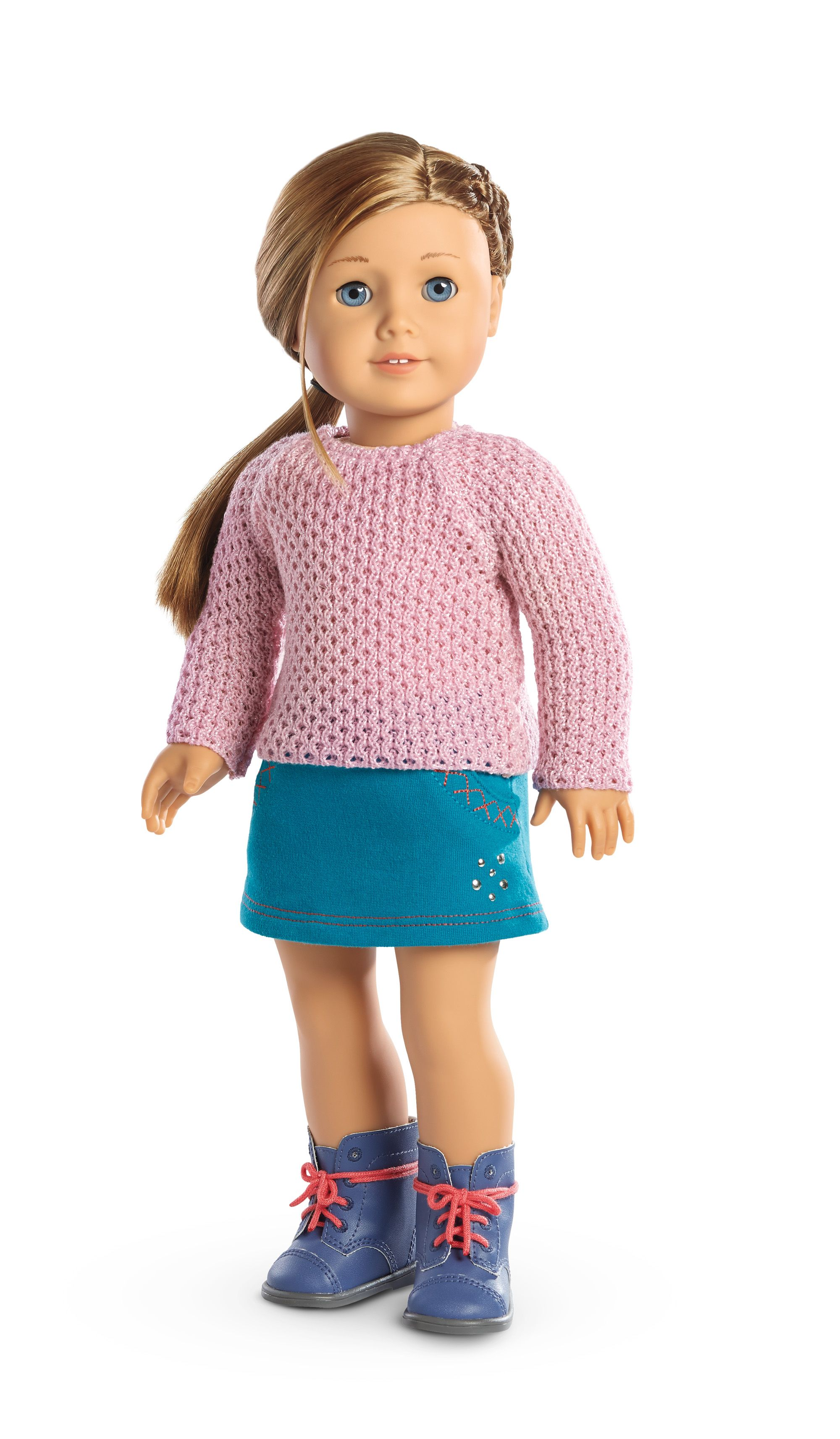 "Pink Sweater outfit accessory For 18/"" American Girl doll dollhouse Xmas gift Toy"