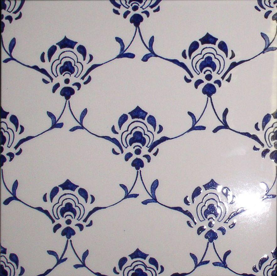 D cor azulejos peint la main sur un carreau de fa ence Peindre de la faience