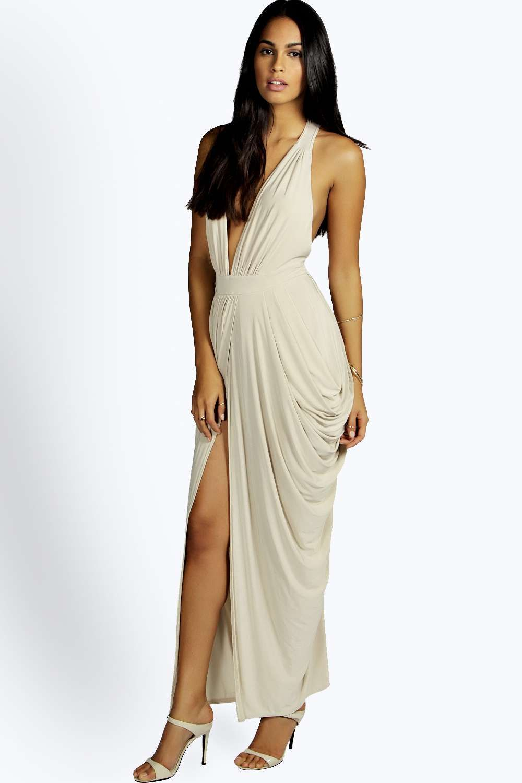 f92c2106 Emmie Plunge Drape Effect Maxi Dress | FORMAL DRESS | Drape maxi ...