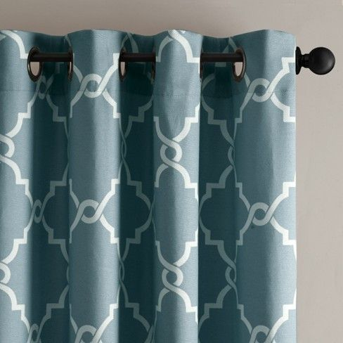 Sereno Fretwork Print Curtain Panel With Images