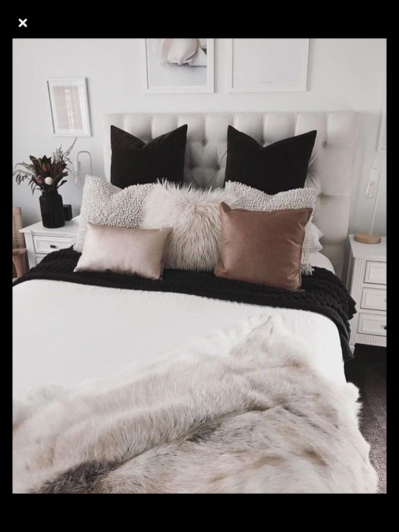 Bedroom Inspo Black White Pink In 2020 Bedroom Inspirations Bedroom Design Home Bedroom