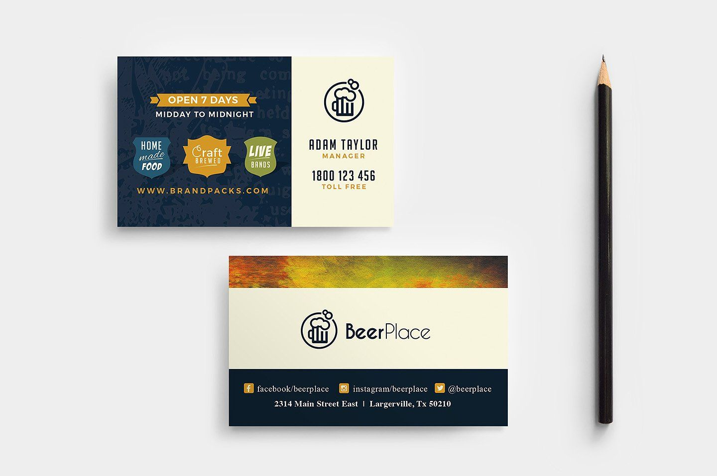 Local Pub Templates Pack Business Card Template Design Business
