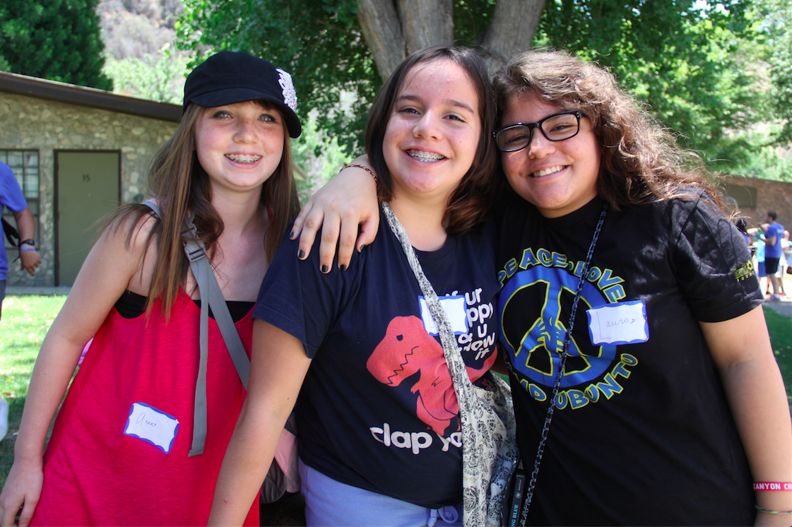 emma and friends at canyon creek summer camp 2015 love that smile