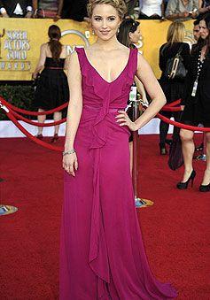 sweep train sleeveless deep v-neck chiffon column celebrity dress