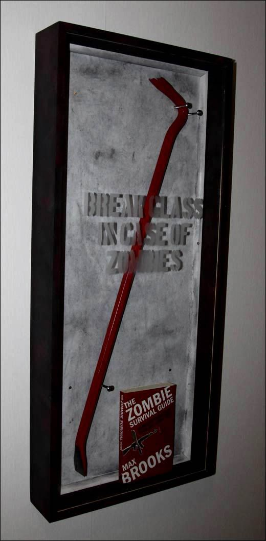 Break glass in case of zombies were totally making this for our house.