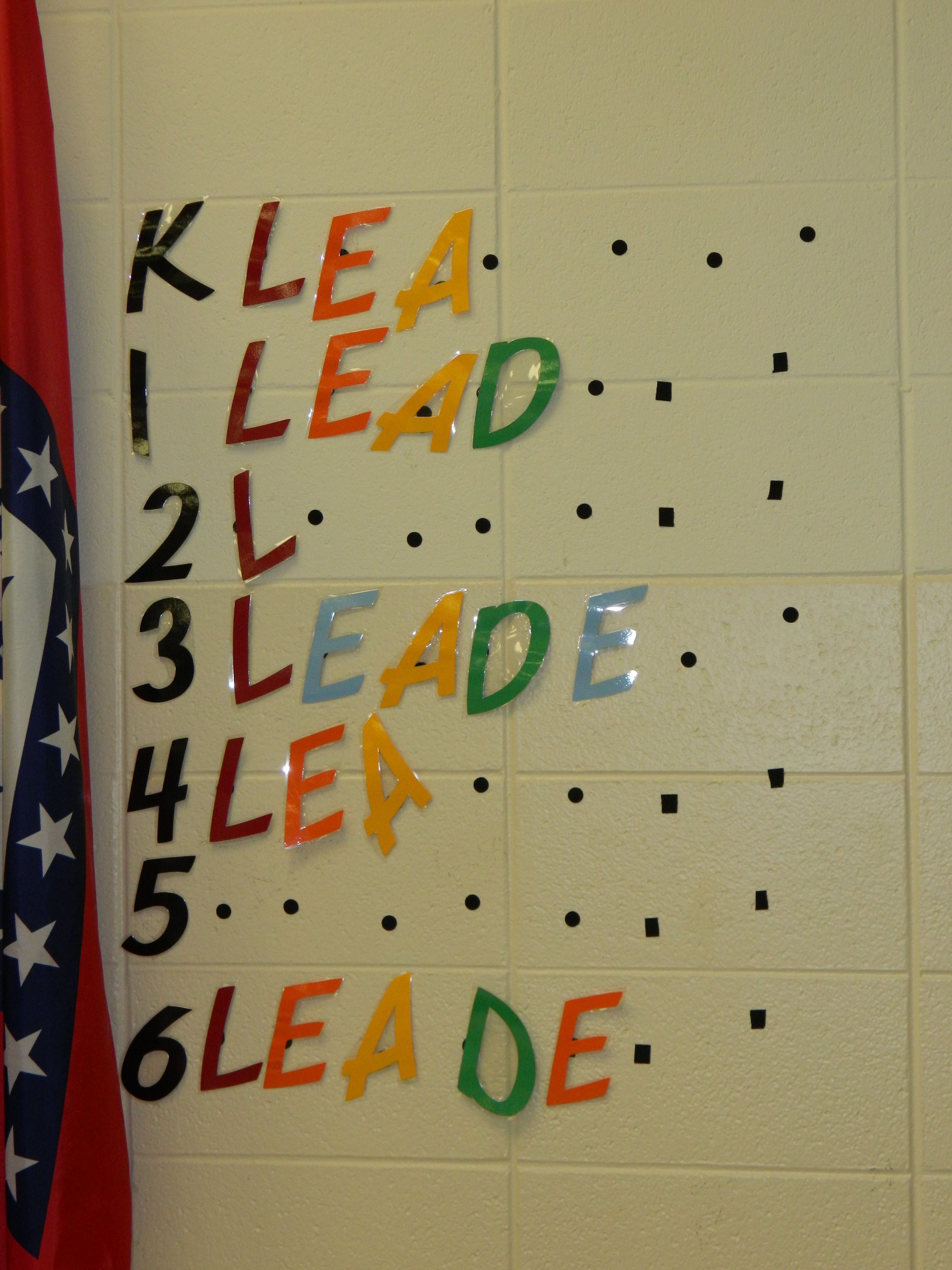 Spelling Leadership By Grade Level In The Cafeteria This Is An Incentive For Each Grade Level