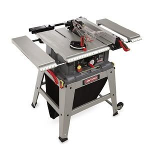 10 Table Saw With Laser Trac 21807 Sears Table Saw Craftsman Metal Shop