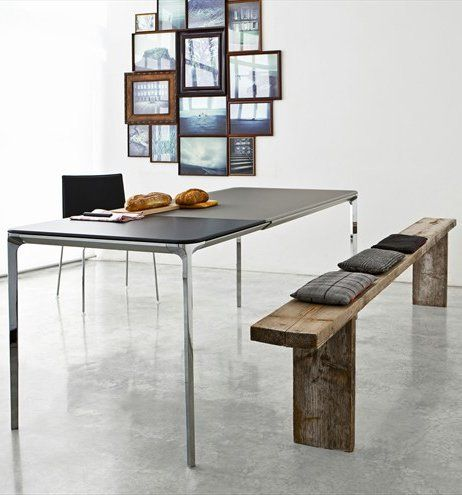 Extending Rectangular Table SLIM ALLUNGABILE By SO.VE.T. | #Design Matthias Good Looking