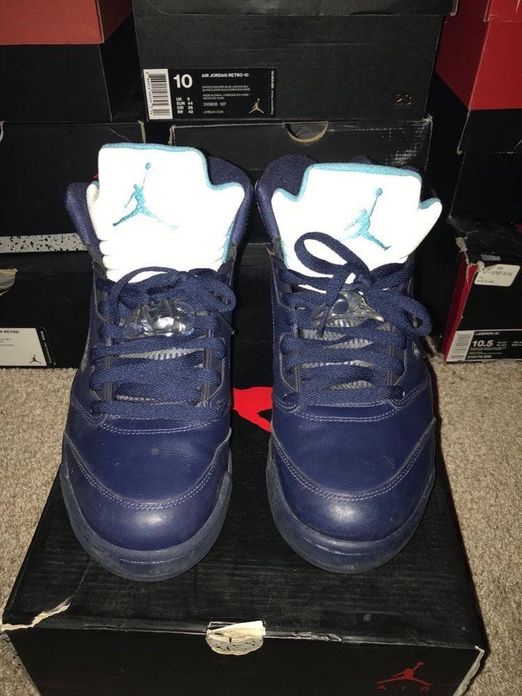 fed5bb5fd3f Nike 845035-003 Men s Size10 Air Jordan 5 Retro - Hornet Charlotte  fashion