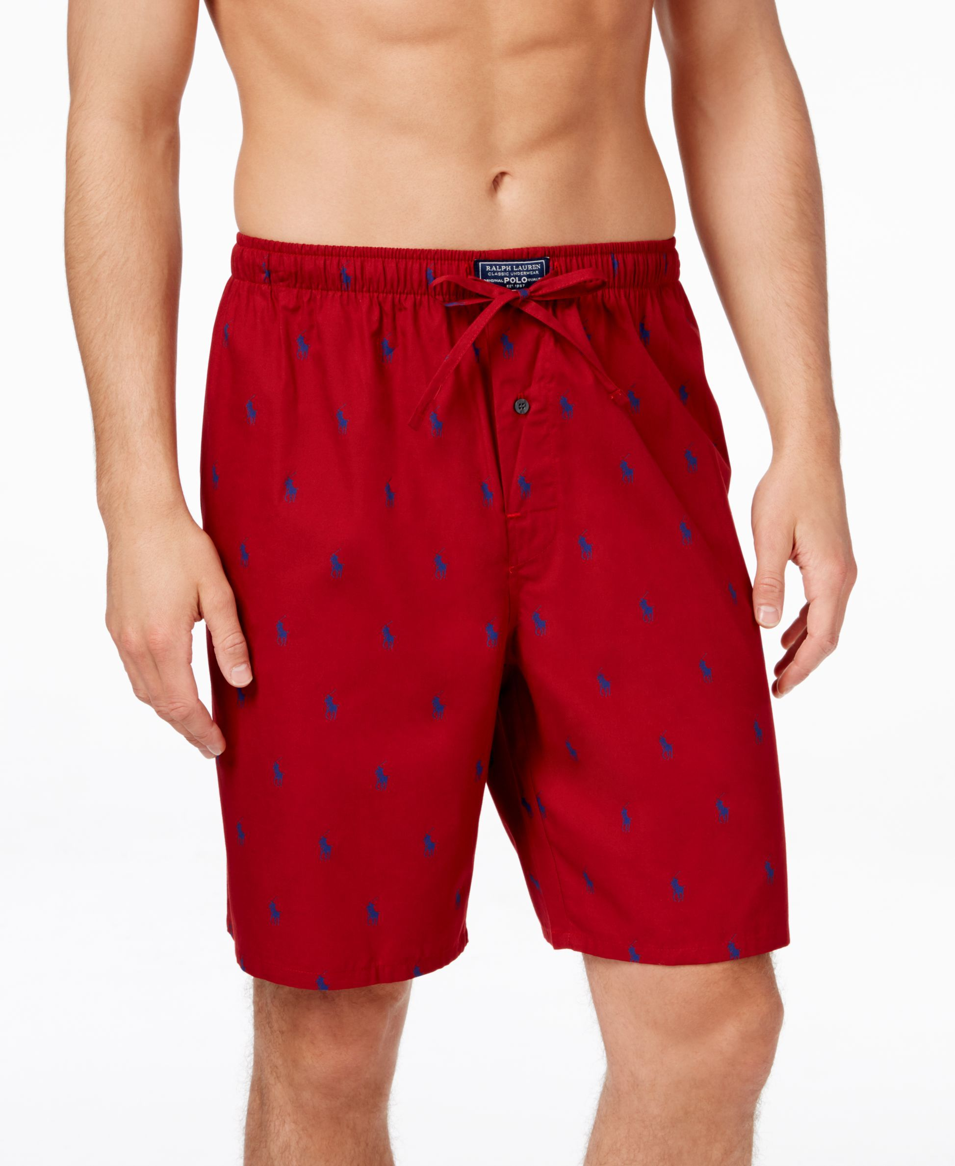 e35b1e192e Polo Ralph Lauren Men's Woven Pony Player Sleep Shorts | My ...