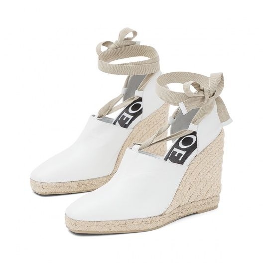 Loewe Summer 2015 - RIBBON WEDGE ESPADRILLE White