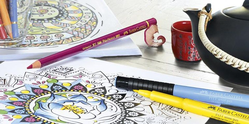 Faber Castell S Coloring Guide Adult Coloring Books Are The