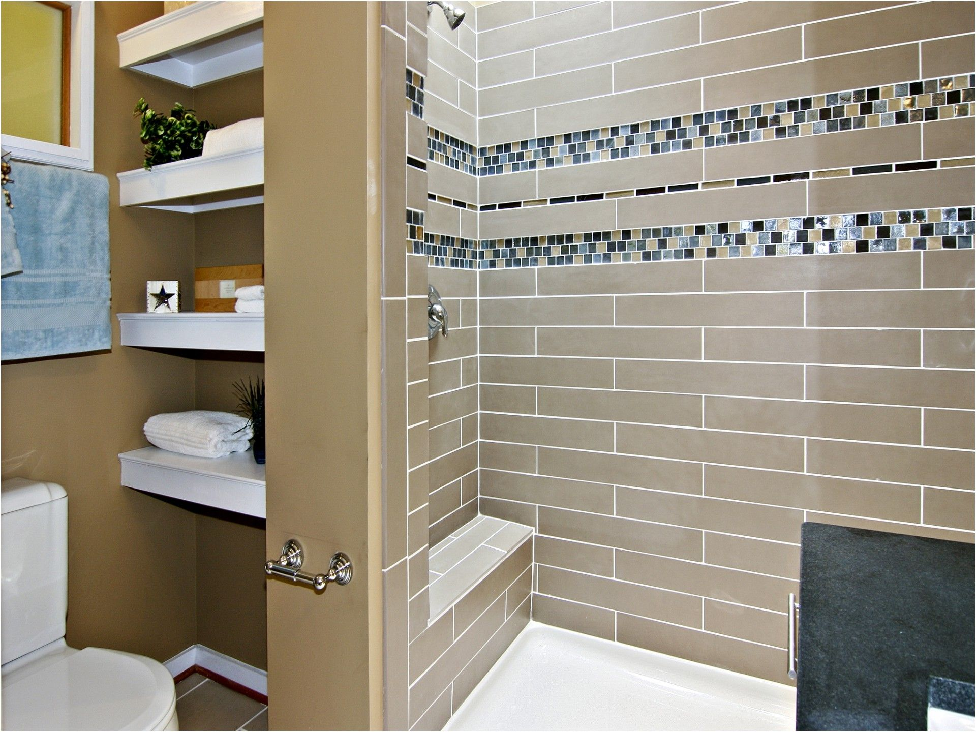 Glass mosaic bathroom ideas find this pin and more on bathrooms from