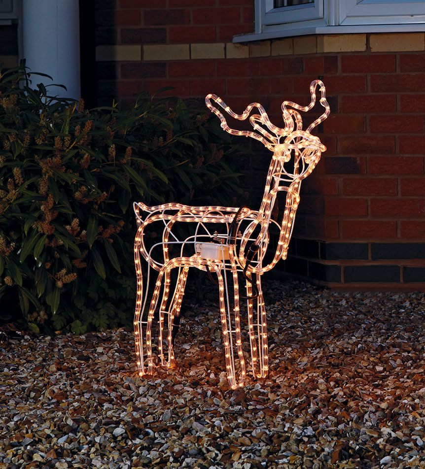 Argos Christmas Light Decorations: This Pretty Nodding Reindeer Rope Light Christmas
