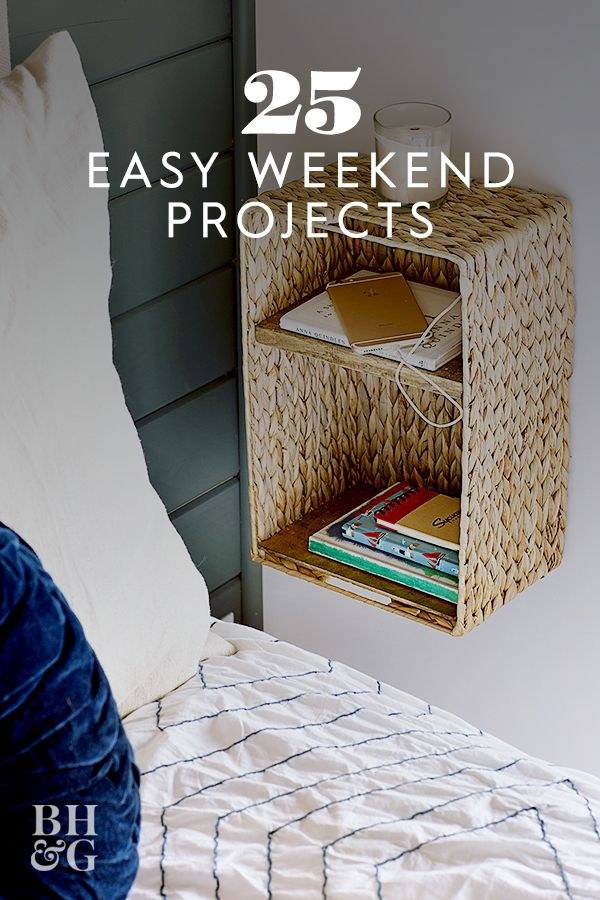 These 25 budget home improvement projects will make a huge impact on your home. The best part is these home remodel projects can be completed in one weekend! #weekendremodel #weekendremodelprojects #ideas #easydiy #weekenddiyprojects #weekenddiyhomeprojects #bhg
