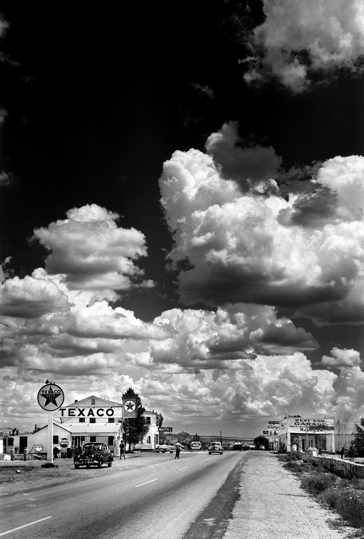 Route 66 by Andreas Feininger • Arizona, 1953 #route66 #USA #Life #Texaco  #monochrome #film