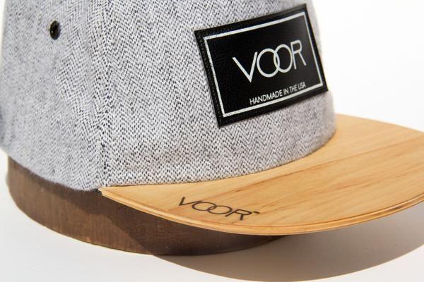 f276276981f Trucker - Gray Herringbone - Wood Brim Hat