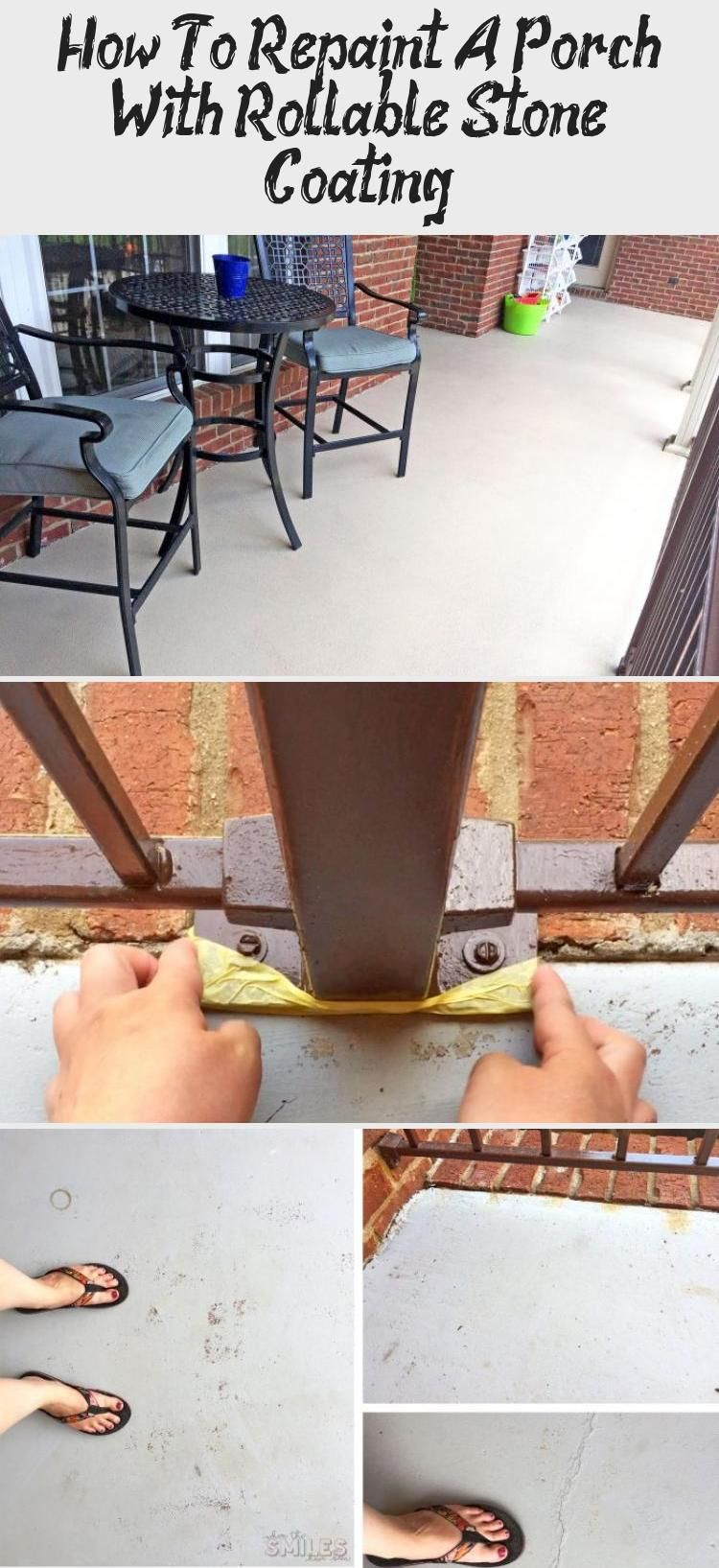 How to repaint a porch with rollable stone coating
