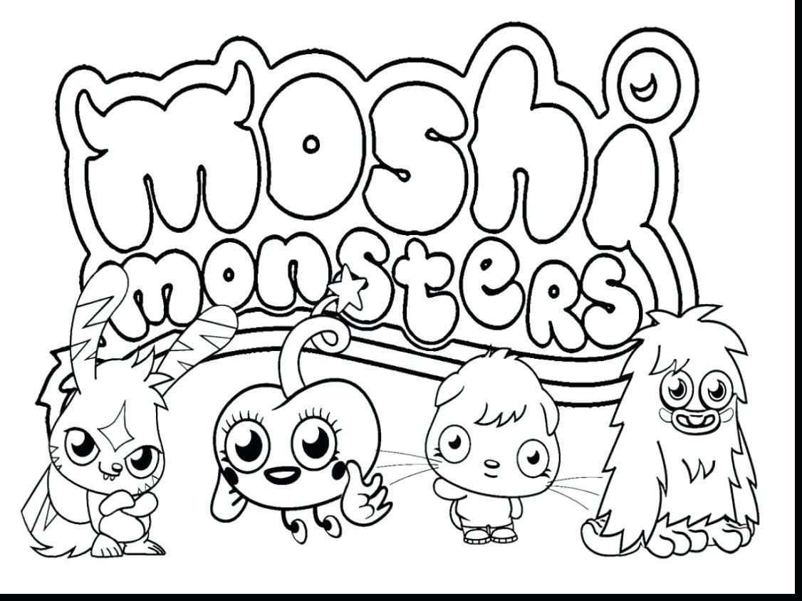 Monsters Inc Coloring Pages Beautiful Moshi Monster Moshling Coloring Pages To Print Monster Coloring Pages Monster Truck Coloring Pages Cool Coloring Pages