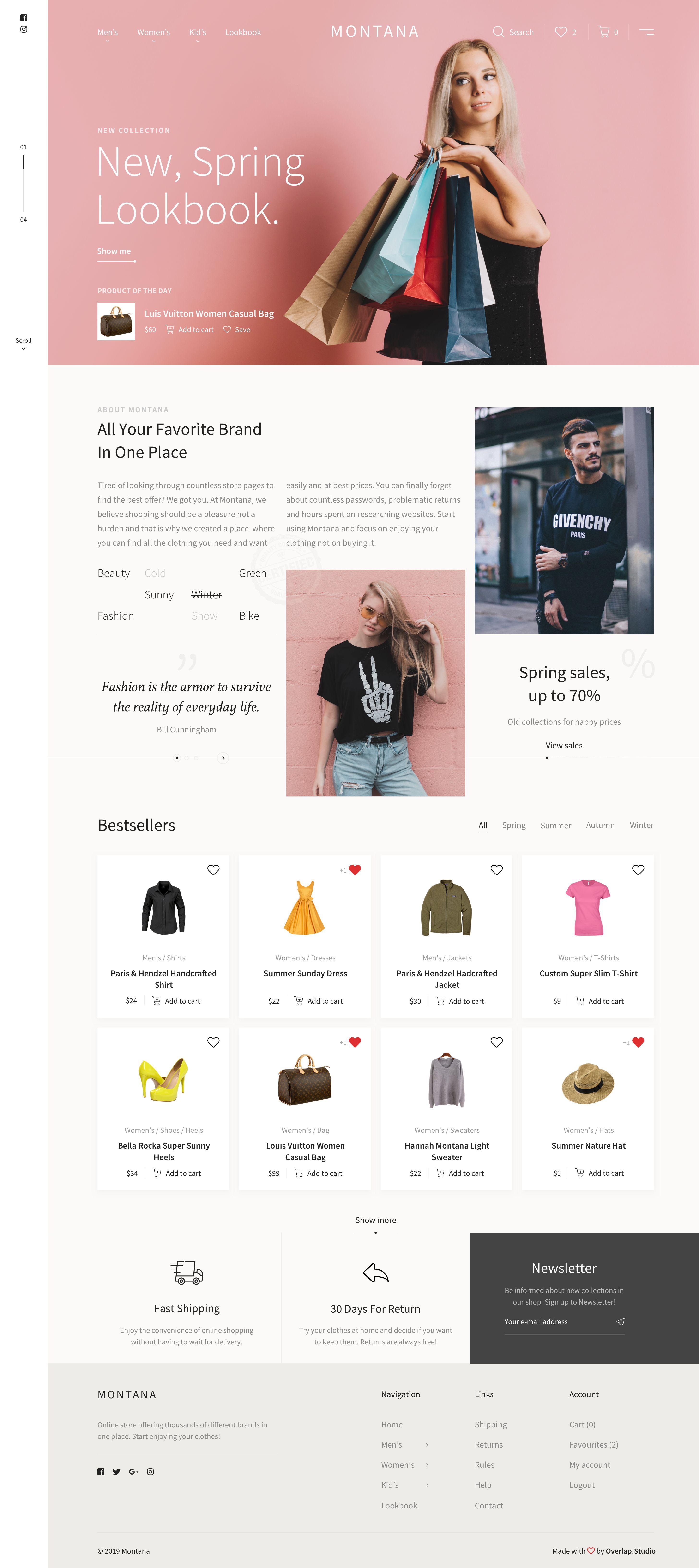 Montana Fashion Store Fashion Store Best Landing Page Design Clean Web Design