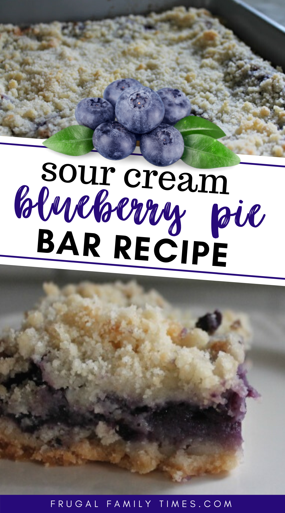 Sour Cream Blueberry Pie Bars Recipe Frugal Family Times Blueberry Pie Bars Pie Bar Recipes Bars Recipes