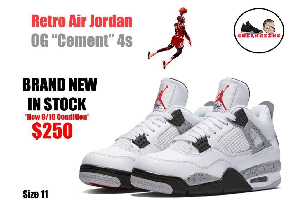 d0d48dd72b8922 Retro Air Jordan OG Cement 4s. Retro Air Jordan OG Cement 4s  fashion   clothing  shoes  accessories  mensshoes  athleticshoes ...