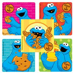Scented Cookie Monster Stickers - Scratch N' Sniff Stickers from SmileMakers
