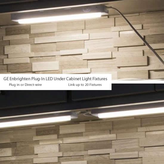 Ge Enbrighten Plug In Led Under Cabinet, Ge Led Under Cabinet Lighting