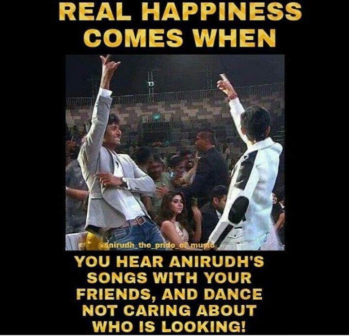 Anirudh Ravichander, Quotes, Me